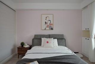 96平米北欧风格卧室背景墙装修效果图