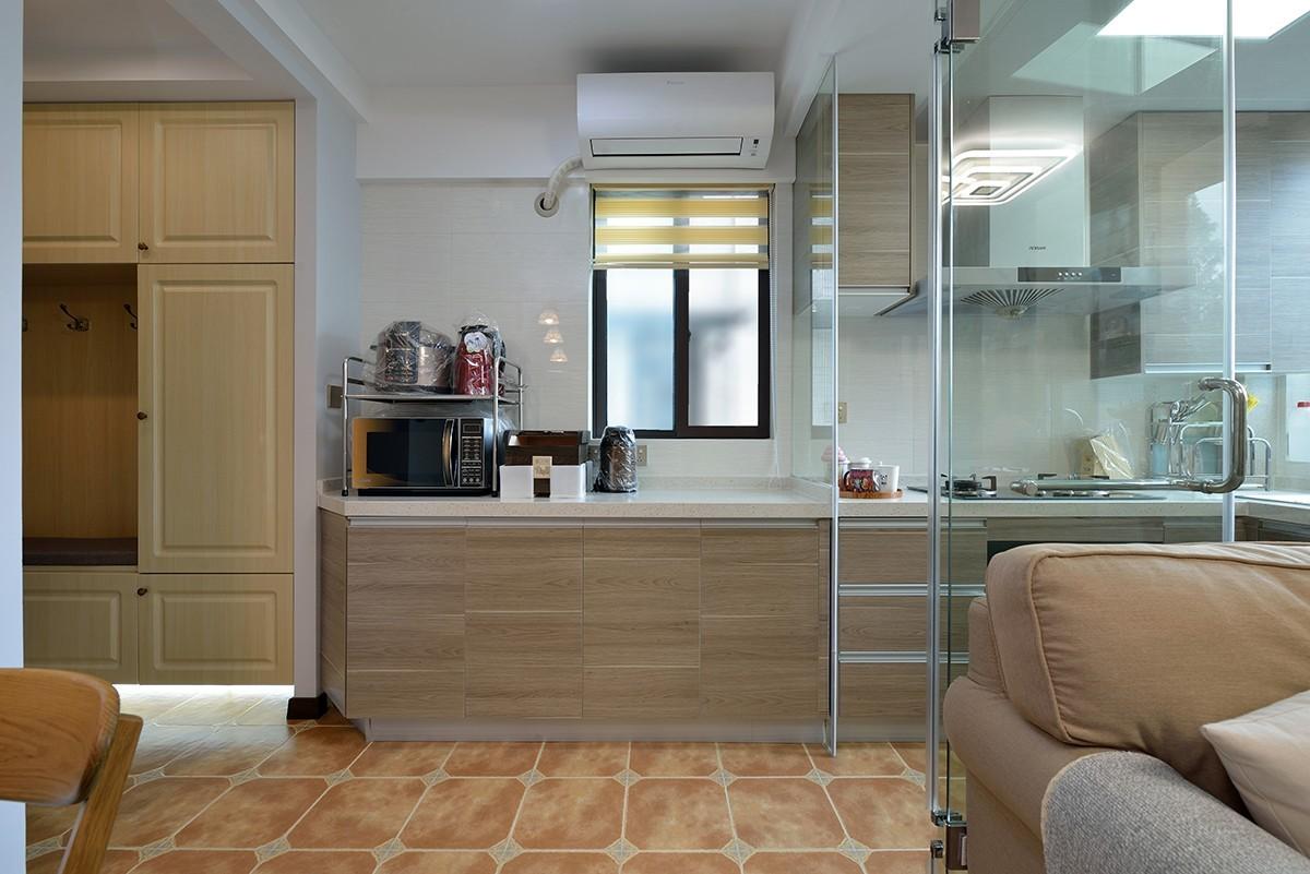 二居室混搭风格厨房装修效果图