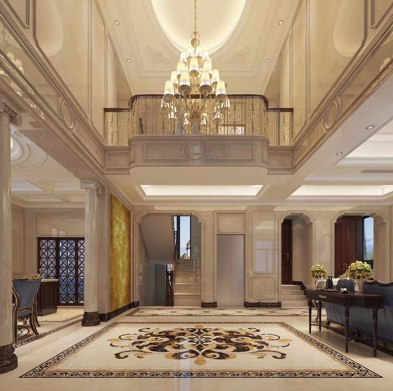 豪华欧式别墅门厅装修效果图