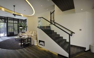 大户型复式混搭风格楼梯装修效果图