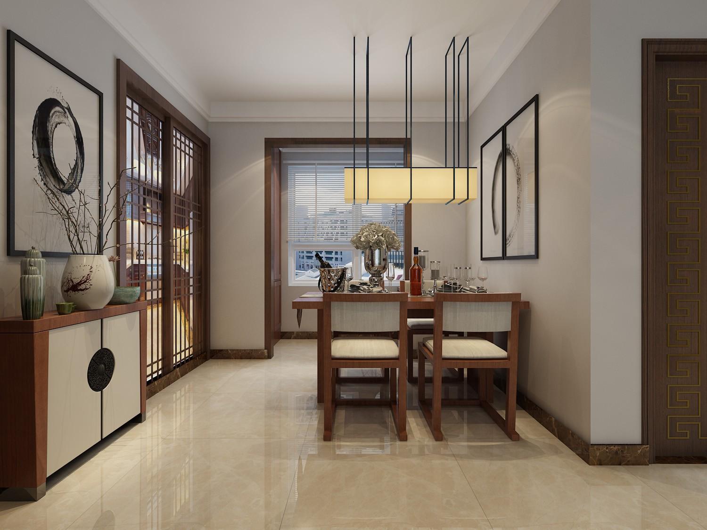 90平新中式风格餐厅装修效果图