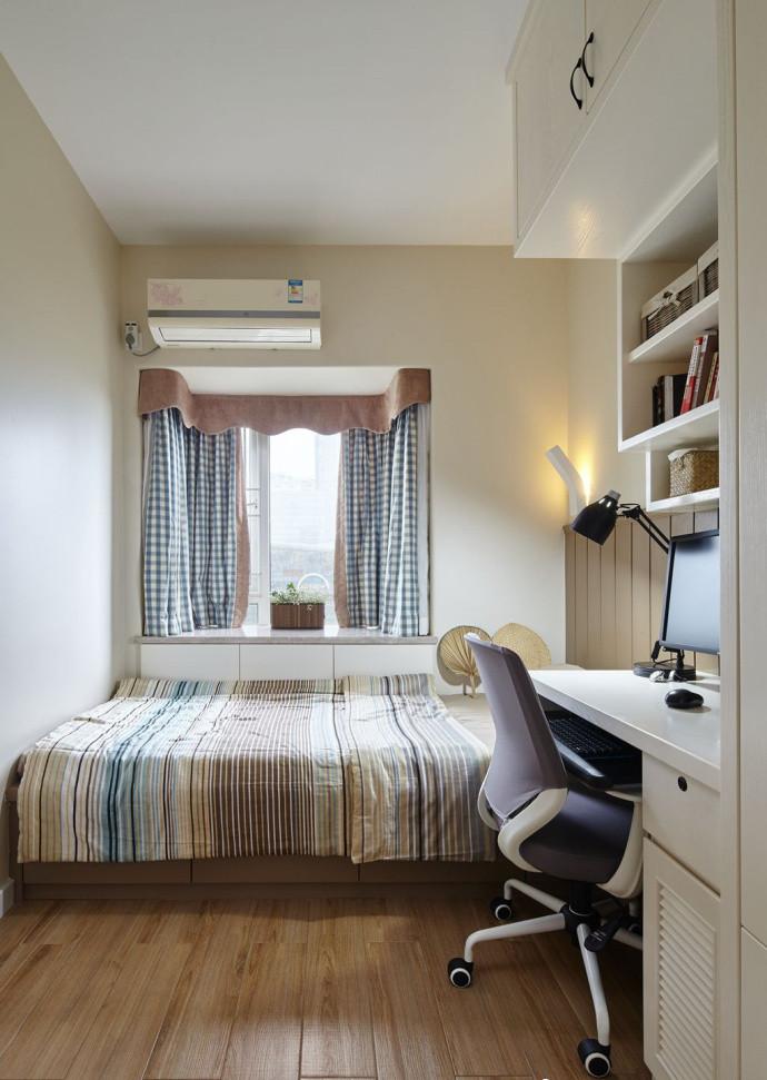 三居室简约风格榻榻米书房装修效果图