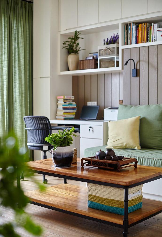 三居室简约风格装修茶几设计图