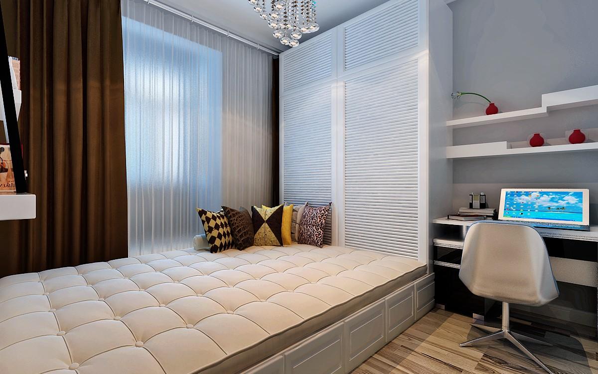 现代简约二居室榻榻米装修效果图