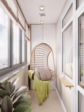 小户型北欧公寓阳台装修效果图