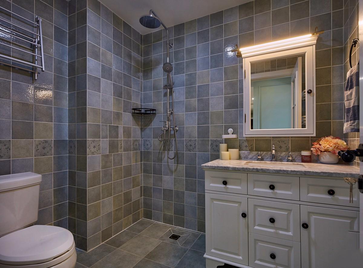 二居室美式风格卫生间装修效果图
