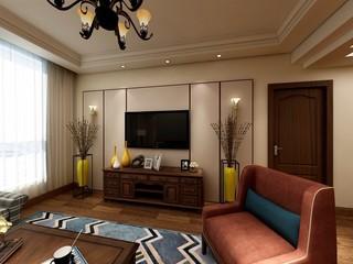 美式风格三居装修效果图