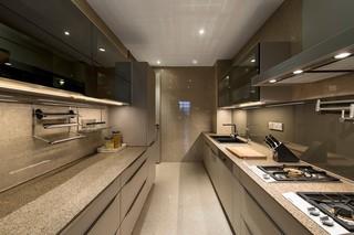 大户型后现代风格厨房装修设计图