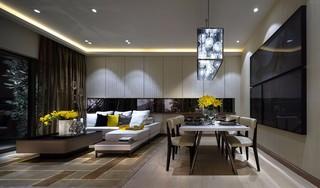 85㎡时尚现代公寓装修效果图