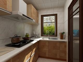 简约中式风格厨房装修效果图