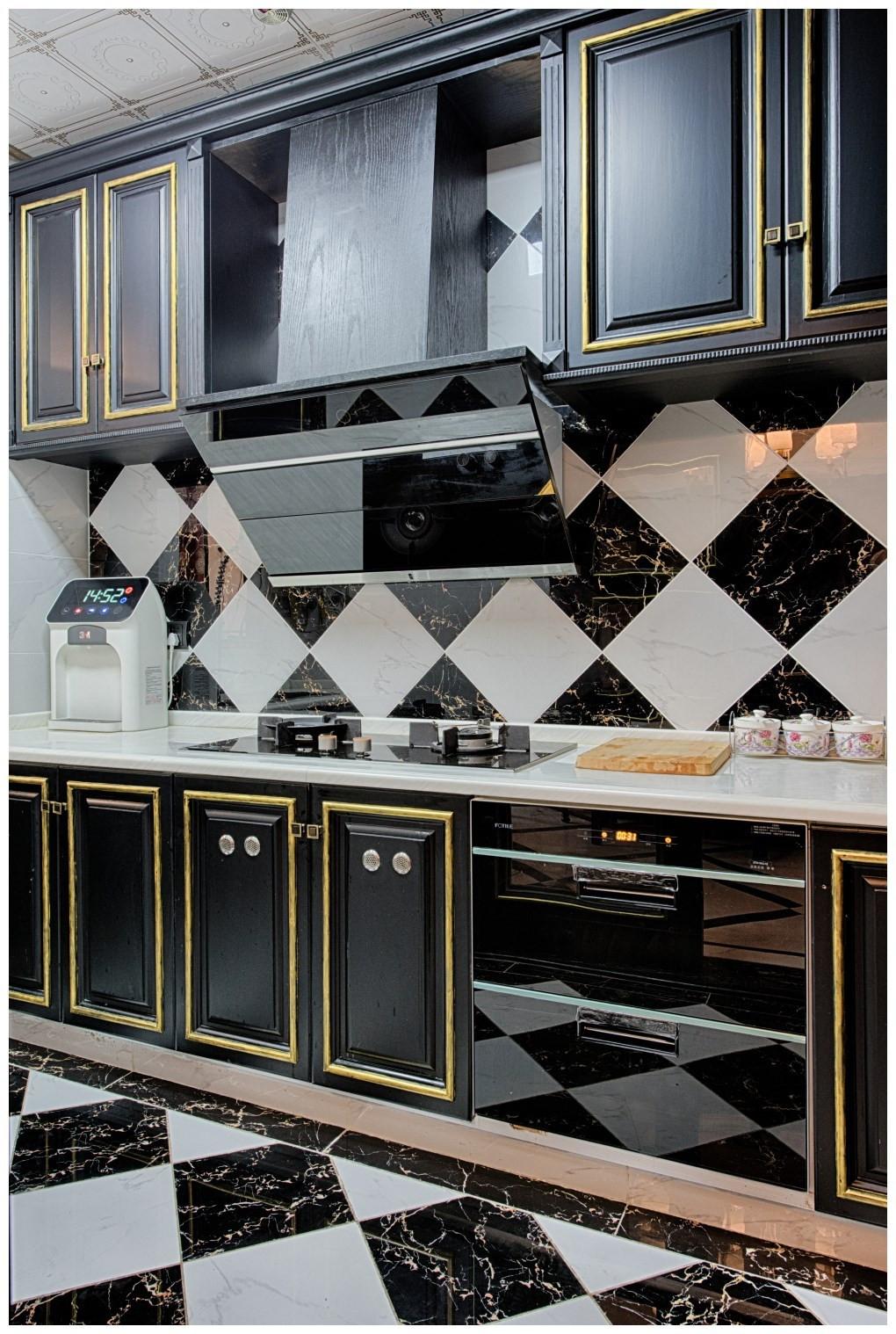 美式新古典风格厨房装修效果图