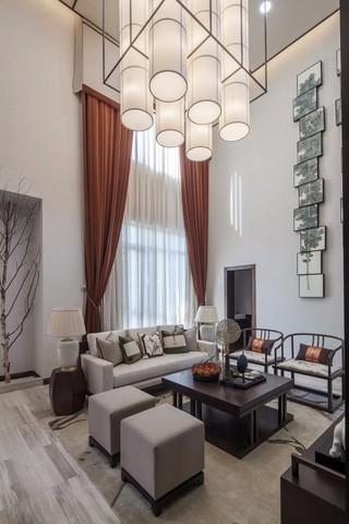 新中式风格别墅客厅装修设计图