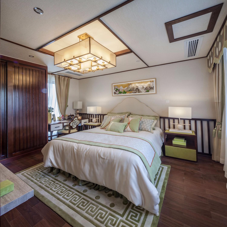 新中式风格别墅卧室装修设计图