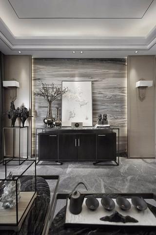 高级灰奢华新中式装修装饰摆件设计图