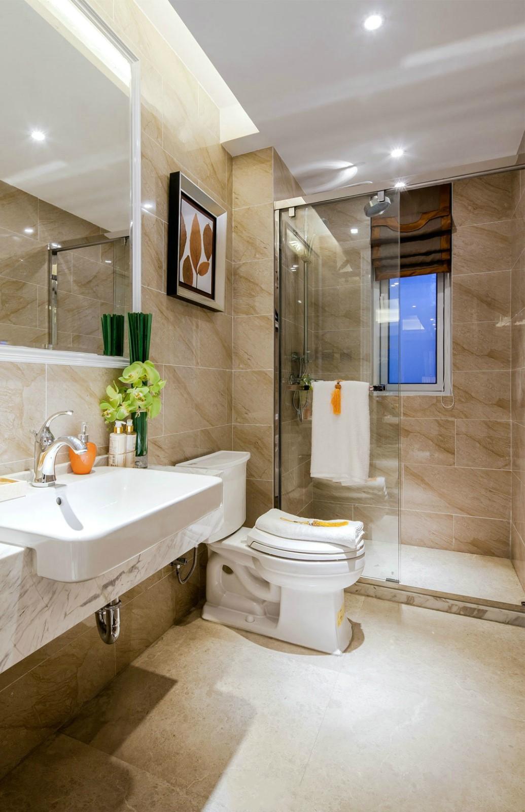 新古典风格四居室卫生间装修设计图