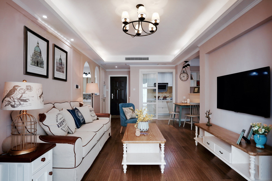 二居室简美风格客厅装修效果图