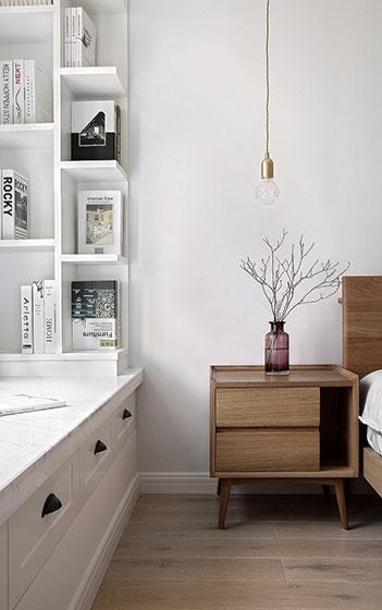 纯净北欧风格装修书柜图片