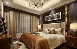 雅致轻奢样板间卧室装修效果图
