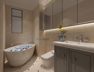 100平米三居室卫生间装修效果图