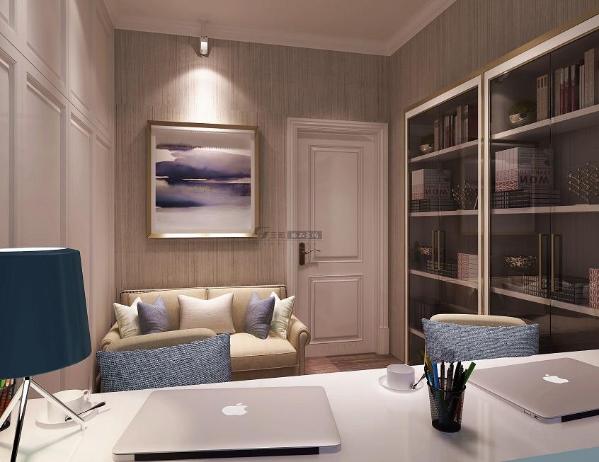 100平米三居室书房装修效果图
