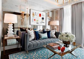 优雅英式公寓装修沙发搭配图