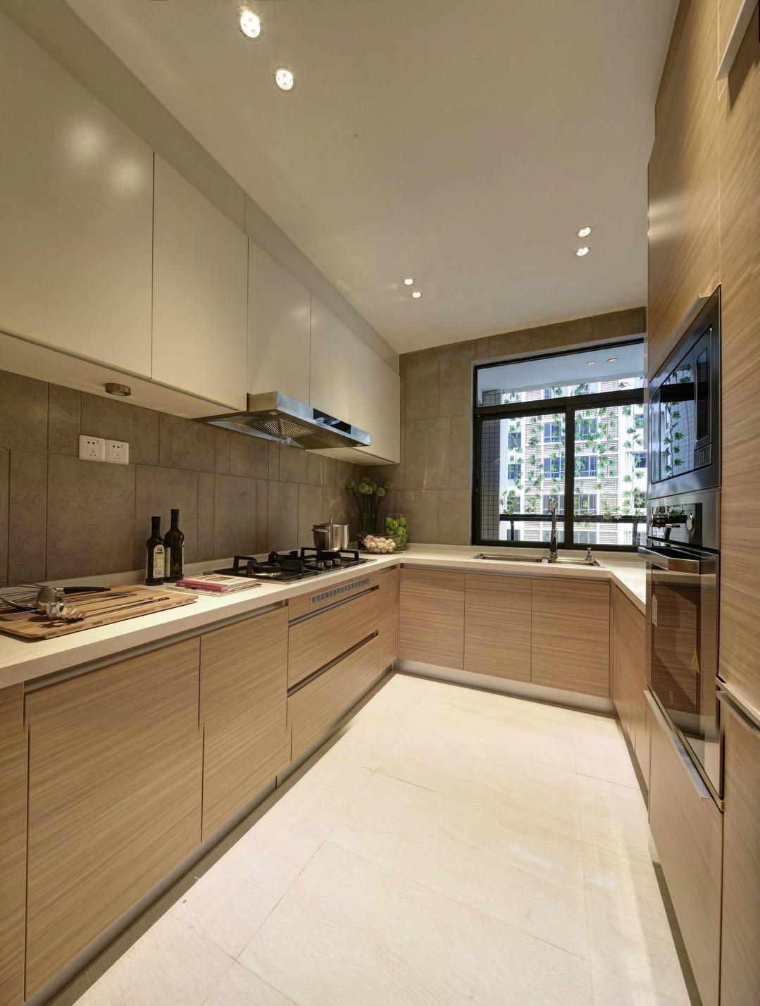 现代简约样板间厨房装修效果图