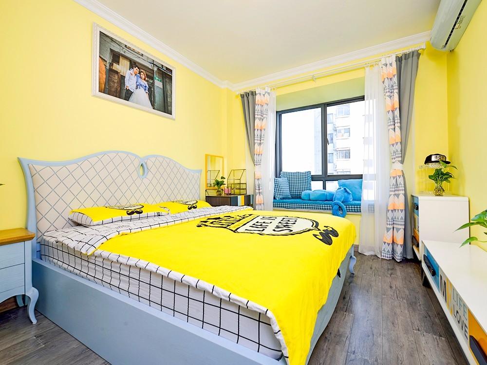 88平地中海风格卧室装修效果图
