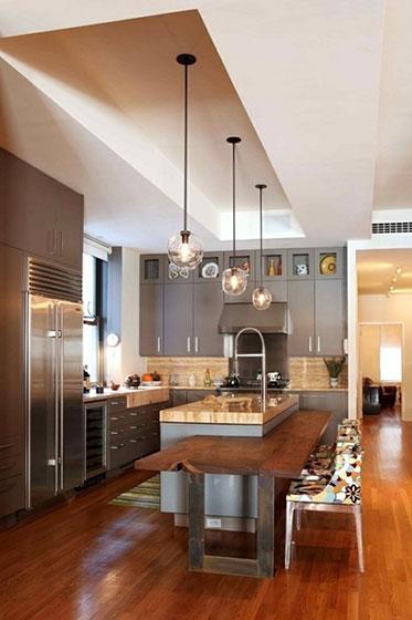 厨房吧台效果图