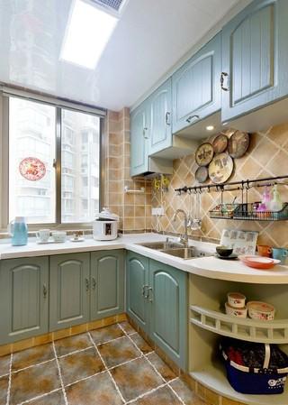 130㎡地中海风格厨房装修设计图