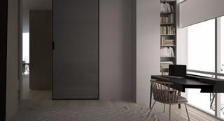 灰色调二居室公寓书房装修效果图