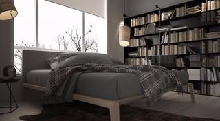灰色调二居室公寓卧室装修效果图