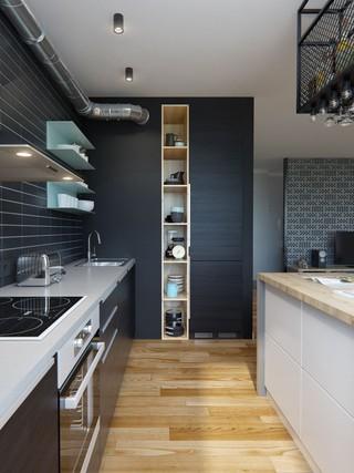 69㎡混搭风公寓厨房装修效果图