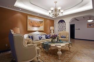 地中海风格四居室客厅每日首存送20