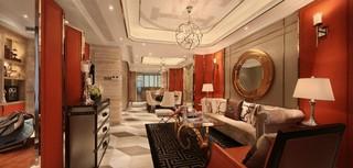 新古典风格样板间客厅装修效果图