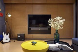 现代简约三居电视墙装修效果图