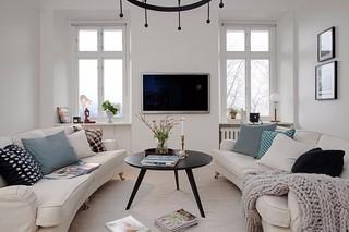 118平米白色公寓装修效果图