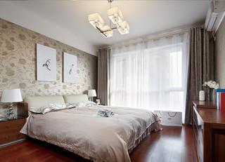 140㎡现代简约卧室装修效果图