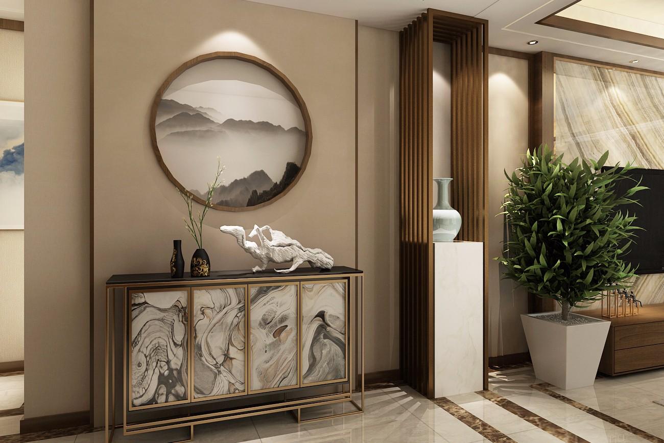 新中式风格玄关装修设计效果图