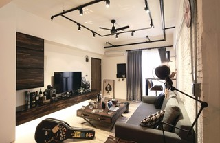 二居室工业风格装修效果图