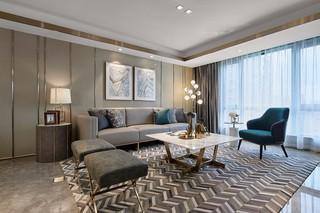 轻奢现代三居室客厅装修效果图
