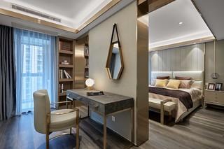 轻奢现代三居卧室隔断装修效果图