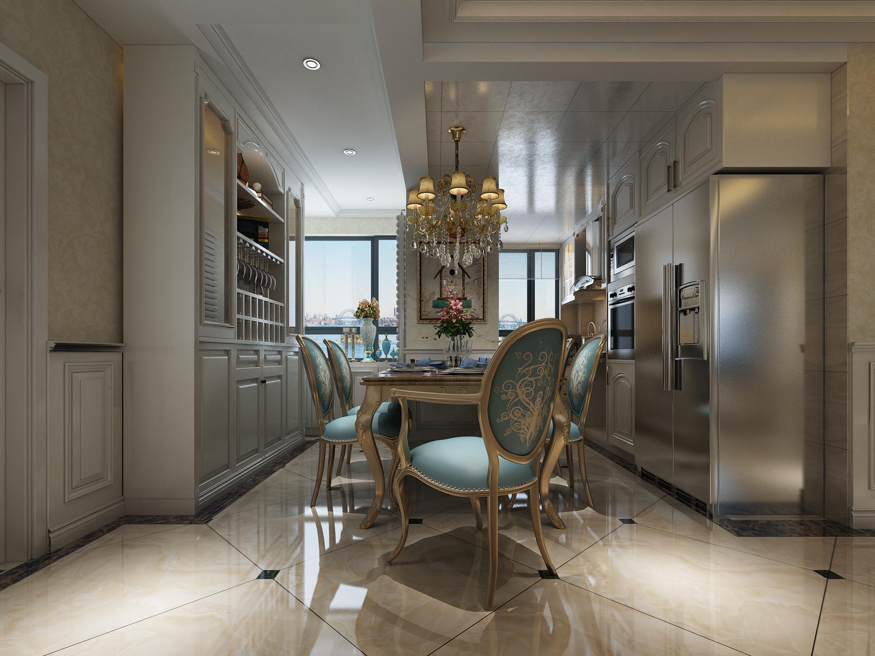 奢华欧式风格厨房装修效果图