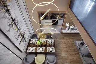 现代简约风格样板房装修餐厅吊灯设计