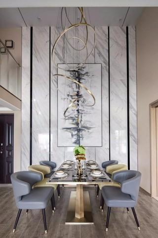 现代简约风格样板房餐厅装修效果图