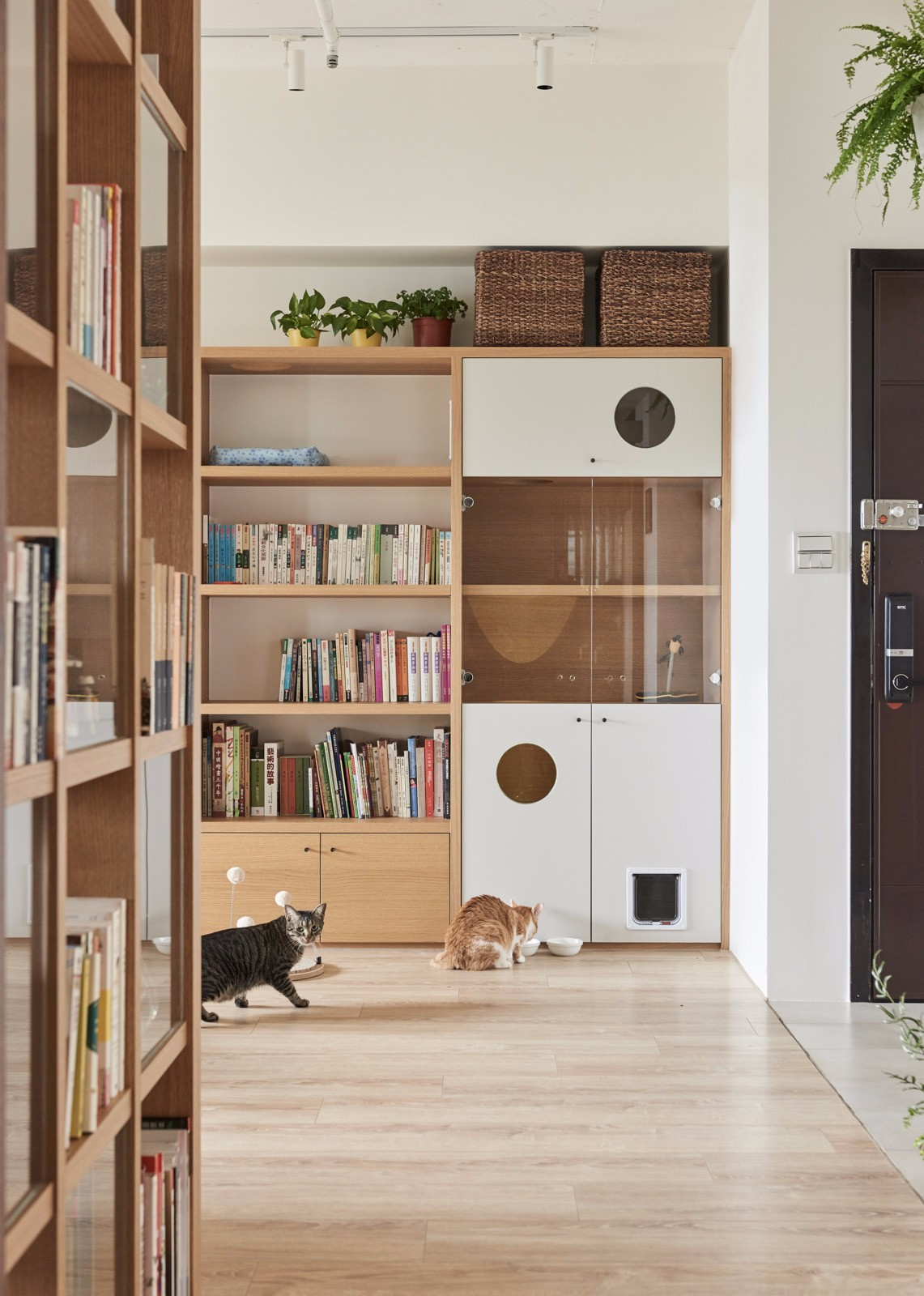MUJI风格二居书柜装修效果图