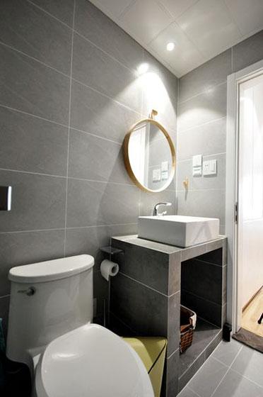 90平北欧风两室两厅卫浴间效果图