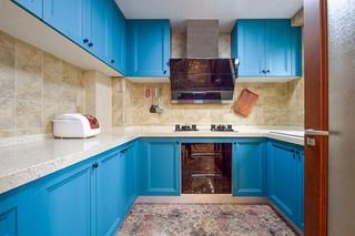湖蓝色厨房装修效果图
