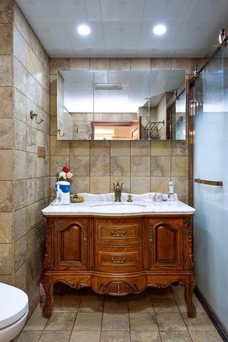 96㎡欧式风格浴室柜装修效果图