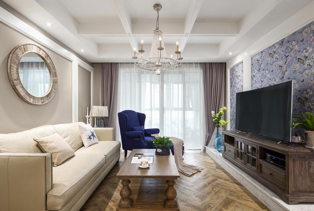 140平米三居室客厅装修效果图