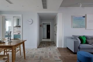 三居室简约风格过道装修效果图